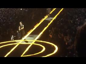 edge falls off stage
