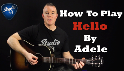 How to Play Hello by Adele on Guitar