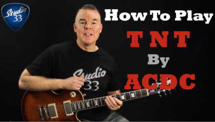 How to play TNT by ACDC