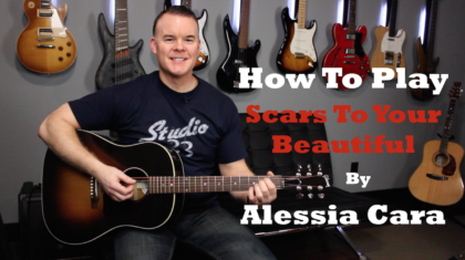 Scars To Your Beautiful Guitar Lesson