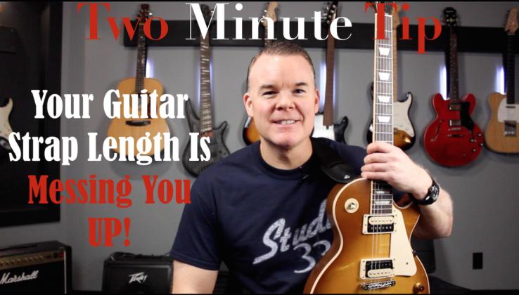 Guitar strap length