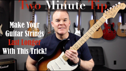 Make Your Guitar Strings Last Longer With This Trick